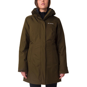 Columbia Salcantay Long Chaqueta Interchange Mujer, olive green
